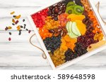 variety of dried and sun dried...   Shutterstock . vector #589648598
