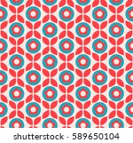seamless retro pattern with...   Shutterstock .eps vector #589650104