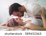 sensual romantic foreplay by... | Shutterstock . vector #589652363