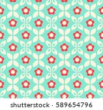 seamless retro pattern with... | Shutterstock .eps vector #589654796