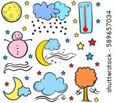 doodle of weather theme element   Shutterstock .eps vector #589657034