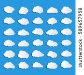collection of vector clouds on... | Shutterstock .eps vector #589657958
