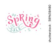 isolated spring sale. spring... | Shutterstock .eps vector #589658480