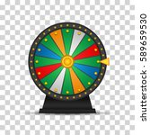 wheel of fortune  icon. vector... | Shutterstock .eps vector #589659530