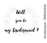 wedding quotes. set for design... | Shutterstock .eps vector #589663343