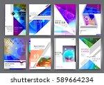 business brochure vector set | Shutterstock .eps vector #589664234