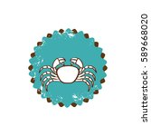 old stamp border with... | Shutterstock .eps vector #589668020