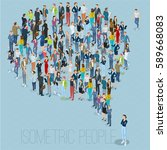 people crowd comment speech... | Shutterstock .eps vector #589668083