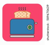 a toaster icon. this... | Shutterstock .eps vector #589670639