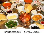 turkish breakfast | Shutterstock . vector #589672058