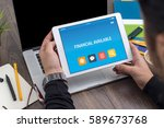 Small photo of FINANCIAL AVAILABLE CONCEPT ON TABLET PC SCREEN