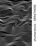 abstract vector seamless moire... | Shutterstock .eps vector #589674440