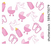 pink baby things icon  vector...   Shutterstock .eps vector #589675079