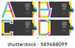 label template. color alphabet... | Shutterstock .eps vector #589688099