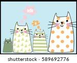 Stock vector cute cats 589692776