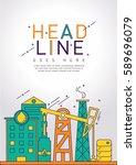 brochure cover design for oil... | Shutterstock .eps vector #589696079