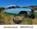 ARIZONA, USA - JUN 09, 2016: Beautiful old and rusted oldtimer in Arizona. Oldtimer stands beside oldtimer in a meadow. A dream for collectors. - stock photo