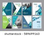 set of modern business paper...   Shutterstock .eps vector #589699163