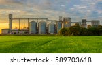 agricultural silos   building... | Shutterstock . vector #589703618