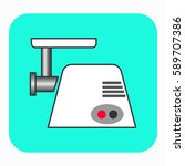 the meat grinder icon. this... | Shutterstock .eps vector #589707386