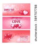 bright love festive horizontal... | Shutterstock .eps vector #589707788