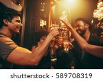 young people celebrating and... | Shutterstock . vector #589708319