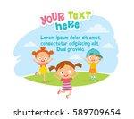 children design with kids... | Shutterstock .eps vector #589709654