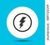 lightning icon. flat vector... | Shutterstock .eps vector #589710149