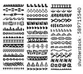 collection of hand drawn... | Shutterstock .eps vector #589715540