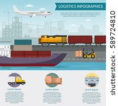 logistics infographic elements... | Shutterstock .eps vector #589724810