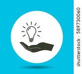 light bulb icon. flat vector...   Shutterstock .eps vector #589730060