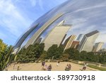 chicago  illinois  usa  ... | Shutterstock . vector #589730918