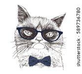 hand drawn illustration of...   Shutterstock .eps vector #589736780