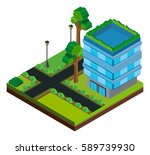 3d design for building on the... | Shutterstock .eps vector #589739930