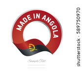 made in angola flag red color...   Shutterstock .eps vector #589750970