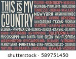 poster of united state of... | Shutterstock .eps vector #589751450