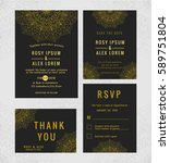 mandala wedding card invitation ... | Shutterstock .eps vector #589751804