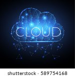 cloud computing shining network ... | Shutterstock .eps vector #589754168