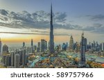 dubai  uae   february 18  burj... | Shutterstock . vector #589757966