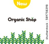 locally grown product concept...   Shutterstock .eps vector #589758398