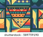 tribal style seamless colorful... | Shutterstock .eps vector #589759190