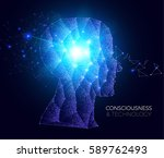 shining network human head.... | Shutterstock .eps vector #589762493