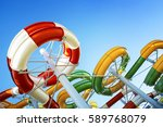 water park with water colored... | Shutterstock . vector #589768079