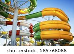 water park with water colored... | Shutterstock . vector #589768088