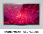modern tv with technology... | Shutterstock .eps vector #589768208