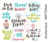 vector set of hand drawn... | Shutterstock .eps vector #589770464
