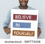 believe yourself confidence...   Shutterstock . vector #589775438
