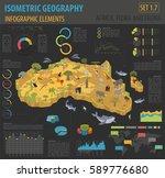 flat 3d isometric africa flora... | Shutterstock .eps vector #589776680