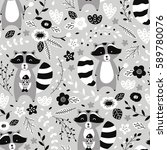 vector seamless pattern  cute... | Shutterstock .eps vector #589780076