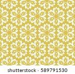 geometric pattern in floral... | Shutterstock .eps vector #589791530
